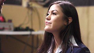 Beautiful student Kendra Spade gets into pants of her crush teacher