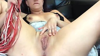 Spanking my meaty pussy and clitoris