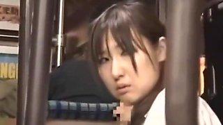 Schoolgirl (Kotomi Asakura) sex on bus