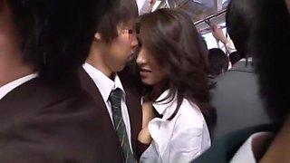 Hottest Japanese chick Marina Matsumoto, Misa Yuuki, Miwako Yamamoto in Crazy Cumshots, Stockings JAV movie