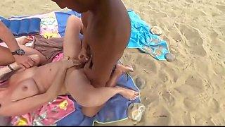 fucked by voyeur at beach