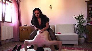 Hot dominant Mistress ass fucks dirty butt slut