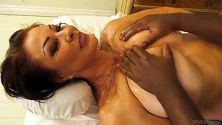 Black Masseur For Mature Woman
