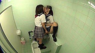 Lesbian Bathroom Break