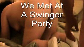 Five mature amateur swingers get together