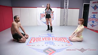 Alexa nova fights and fucks to win nude wrestling match
