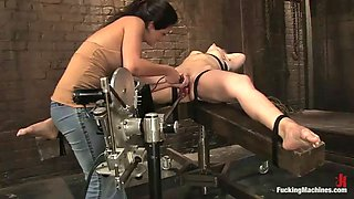 sexy ladies have fun with fucking machines