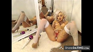 British Emo Creamy Pussy Play w Butt Plug
