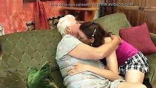 Old 65yo and young 19yo lesbians