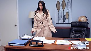 Secretary Stephanie West with firm ass fucked on the office table