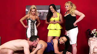 Cfnm brit mistress jizzed
