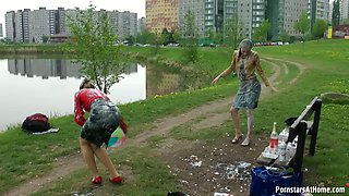 DRINKS IN THE PARK LEAD TO MESS DISASTER