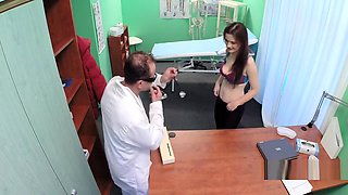 Doctor fucks slim redhead milf