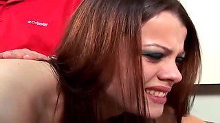 Hot model Ariel Adore spanked hard otk to tears