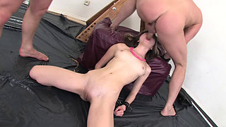 Gina Gerson abused by two guys
