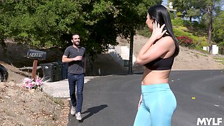 nothing can please horny Jasmine Jae as a strong friend's pecker