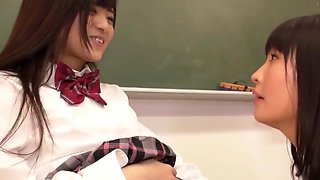 Cute Asian Schoolgirl Makes Teacher Lick Her Pussy All Over the School