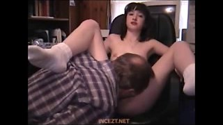 Real Father fuck Daughter at Office