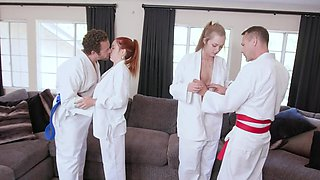 Beautiful Luna Light and sexy Ashley Red are all about disciplining their bodies