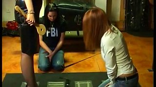 Freya spanks her disobedient girlfriends