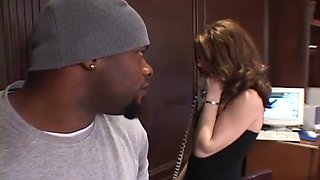 Blonde Ameteur Fucked In Her Office With A Black Men