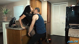Lonely Latina housewife fucks the plumber