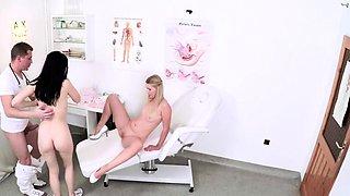 Nurse and patient milk the Dr