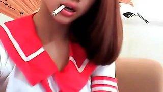 Innocent Smoking Asian Girl 2012