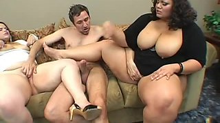 Cum Swapping BBW Queens in Interracial Threesome