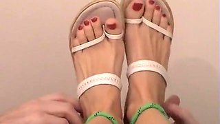 Mature female foot tickling at its best
