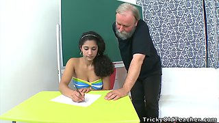 Busty teen fucks her senior teacher