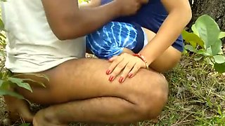 Indian horny couple outdoor fuck in forest xlx