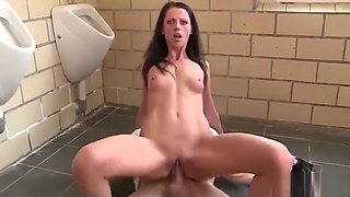 Horny in the public toilet