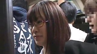 Exotic Japanese girl Mizuki Akiyama, Hina Umehara, Anna Mutsumi in Best Bus JAV movie