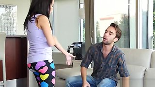 Gorgeous 18yo babe dominated by stepbro