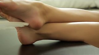 Eva K's Sexy Czech Soles POV Tickled With Feather