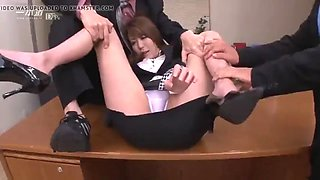 Hr girl relax for her employees with multiple toys part 4