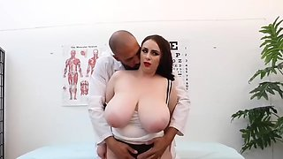 Doctor fucking huge tits