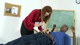 Kinky Interracial Action With A Desirable Redhead