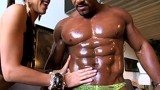 Slut loves this muscular black stud