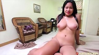 Chubby filipina fucks white guy