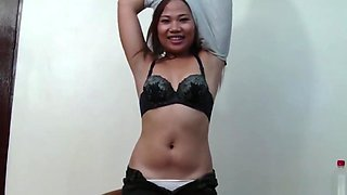 Chubby Filipina gets picked up on the street and fucks white