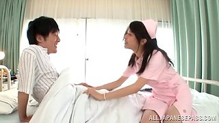 Nurse Ran Usagi gets fucked by hard patient's dick in the hospital
