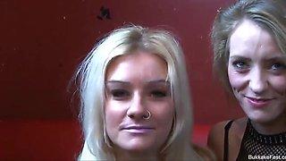 Ava and jakki louise join bukkake party