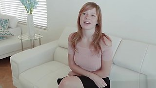 Freckled teen first timer bangs for cum
