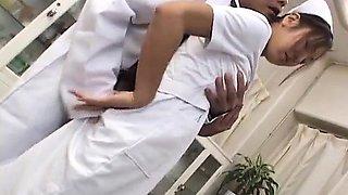 Erena Fujimori nurse enjoys cock and vibrator