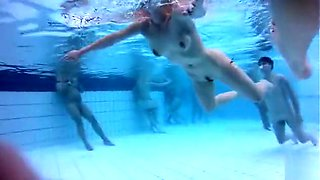 Nudist girl gets her pussy pounded in the pool