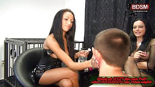 Cute german domina milf and teen first lession