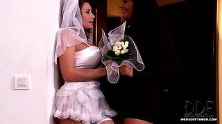 Lesbian Bride Bound & Teased