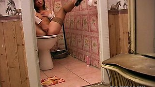 Teen Get Fisted and Fucked On The Toilet